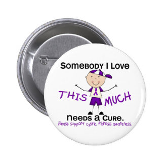 Somebody I Love - Cystic Fibrosis Boy Pin