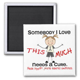 Somebody I Love - Juvenile Diabetes Girl Magnets