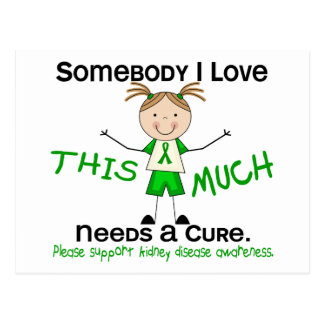Somebody I Love - Kidney Disease (Girl) Postcard
