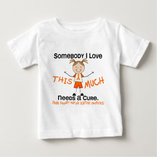 Somebody I Love - Multiple Sclerosis (Girl) MS Baby T-Shirt