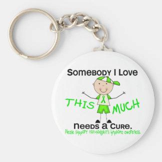 Somebody I Love - Non-Hodgkins Lymphoma (Boy) Basic Round Button Key Ring