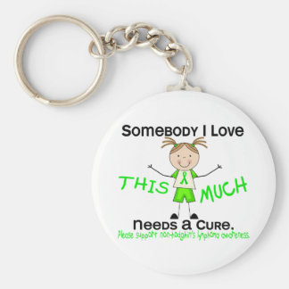 Somebody I Love - Non-Hodgkins Lymphoma (Girl) Key Ring