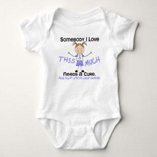 Somebody I Love - Prostate Cancer (Girl) Baby Bodysuit
