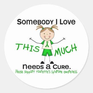 Somebody I Love - Tourettes Syndrome (Girl) Classic Round Sticker