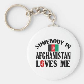 Somebody In Afghanistan Loves Me Key Ring