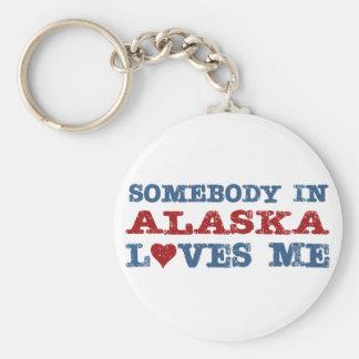 Somebody In Alaska Loves Me Key Ring
