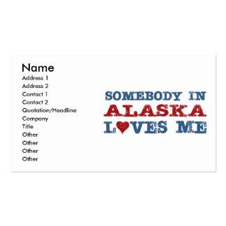 Somebody In Alaska Loves Me Pack Of Standard Business Cards