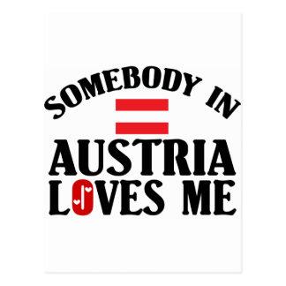 Somebody In Austria Postcard