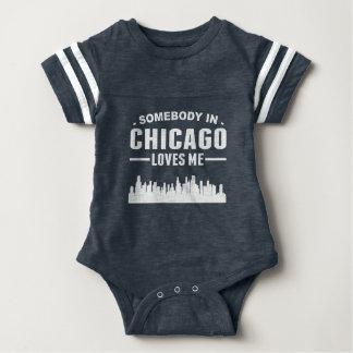 Somebody In Chicago Loves Me Baby Bodysuit