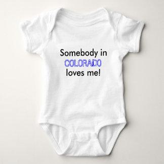 Somebody in, COLORADO, loves me! Baby Bodysuit