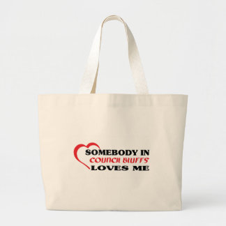 Somebody in Council Bluffs loves me t shirt Tote Bags