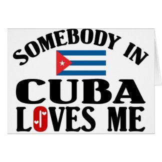 Somebody In Cuba Card