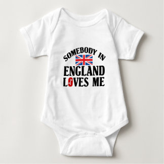 Somebody In England Loves Me Baby Bodysuit