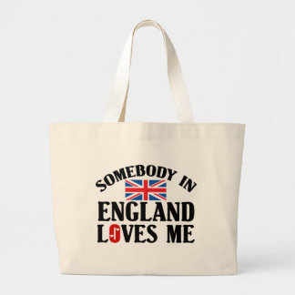 Somebody In England Loves Me Jumbo Tote Bag