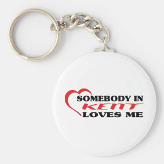 Somebody in Kent loves me t shirt Key Chain