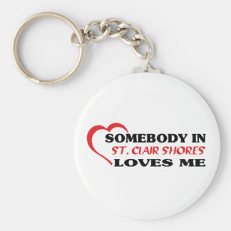 Somebody in   loves me t shirt keychain
