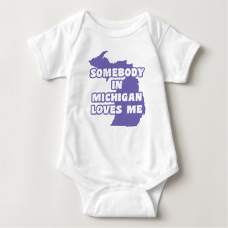 Somebody in Michigan Loves Me Baby Bodysuit