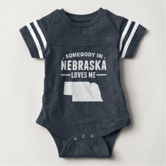 Somebody In Nebraska Loves Me Baby Bodysuit