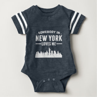 Somebody In New York Loves Me Baby Bodysuit