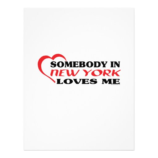 Somebody in New York Loves Me shirts Flyer