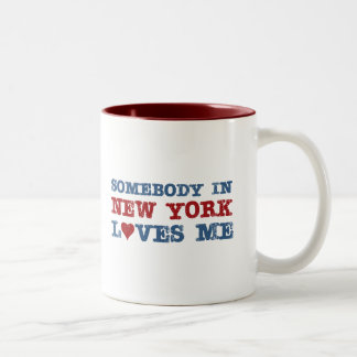 Somebody in New York Loves Me Two-Tone Coffee Mug