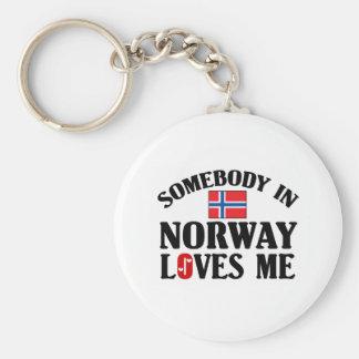 Somebody In Norway Key Ring