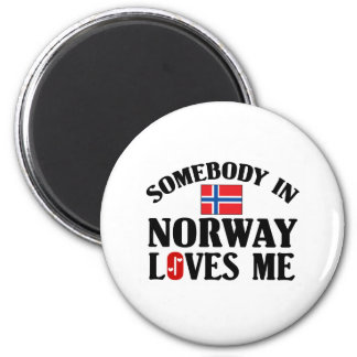 Somebody In Norway Magnet