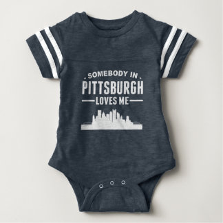 Somebody In Pittsburgh Loves Me Baby Bodysuit