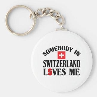 Somebody In Switzerland Key Ring