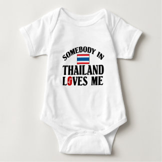 Somebody In Thailand Loves Me Baby Bodysuit