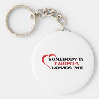 Somebody in Tunisia Loves Me Key Ring