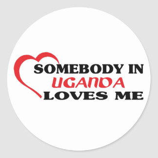 Somebody in Uganda Loves Me Classic Round Sticker