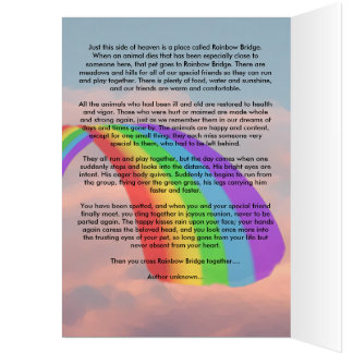 Somebody is Waiting for Me at Rainbow Bridge Card
