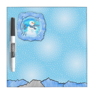 Somebody Loves You Emotional Snowman Dry Erase Board