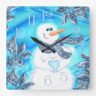 Somebody Loves You Emotional Snowman Wall Clock