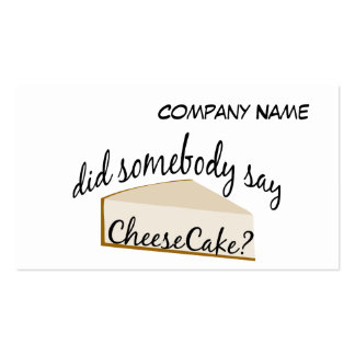 Somebody Say Cheesecake? Pack Of Standard Business Cards