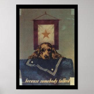Somebody Talked World War 2 Poster