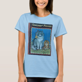Somebody's Pussies Babydoll T by Artist Louis Wain T-Shirt
