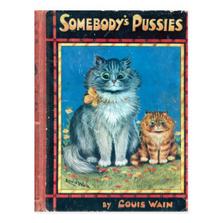 Somebody's Pussies by Artist Louis Wain Postcard