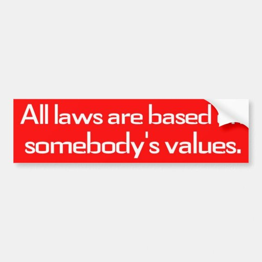 Somebody's Values Bumper Stickers