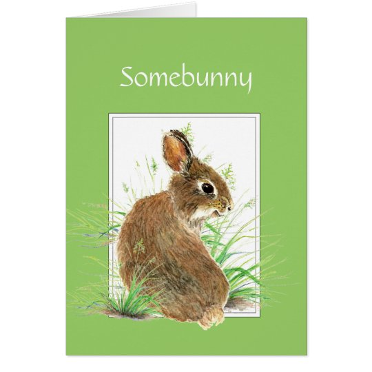 Somebunny Get Well Wishes, Cute Rabbit, Bunny Card