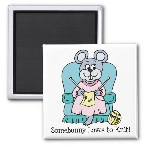 Somebunny Loves to Knit Magnets