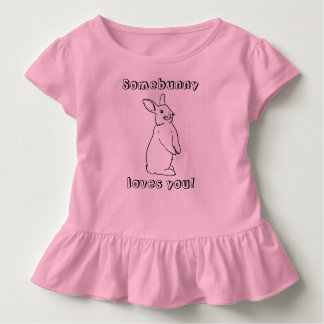 Somebunny loves you! Kids Rabbit T-shirt
