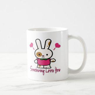 Somebunny Loves You/Me Basic White Mug