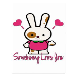 Somebunny Loves You/Me Postcard