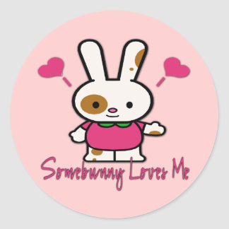 Somebunny Loves You/Me Round Stickers