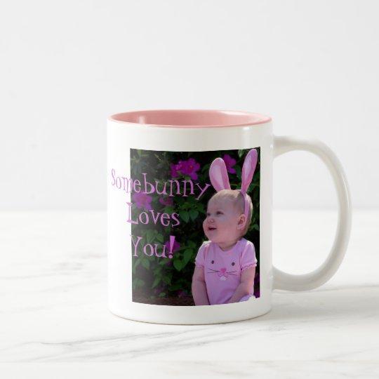Somebunny Loves You! Two-Tone Coffee Mug