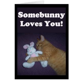Somebunny Loves You! Valentine Greeting Card