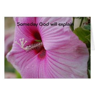 Someday God will explain Greeting Card
