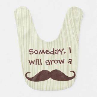 Someday, I will grow a Mustache Bibs
